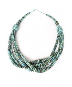 4-strand turquoise necklace by Chris Nieto (Santo Domingo)