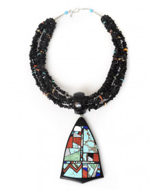 6-strand multi-stone necklace by Chris Nieto (Santo Domingo)