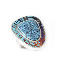 Micro-inlay ring by Carl Clark (Navajo)