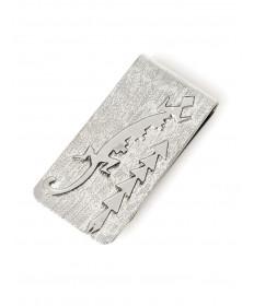 Sterling silver lizard money clip by Raymond Begay (Navajo)