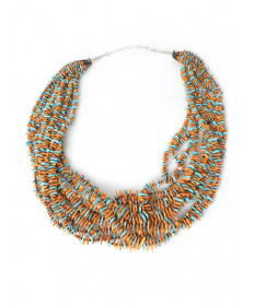 10-strand turquosie & shell necklace by Kenneth Aguilar (Santo Domingo)