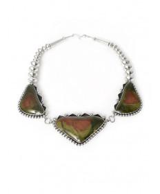 Morrisonite jasper necklace by Mary Tom (Navajo)