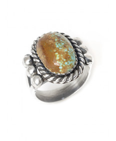 Turquoise ring by Jeanette Dale (Navajo)