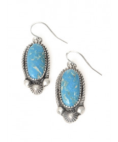 Turquoise earrings by Jeanette Dale (Navajo)