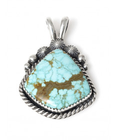Turquoise pendant by Jeanette Dale (Navajo)