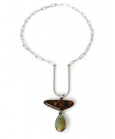 Multi-stone double-sided necklace by Richard Tsosie (Navajo)