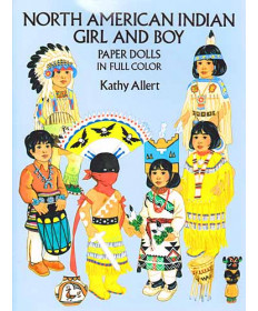 North American Indian Girl & Boy Paper Dolls