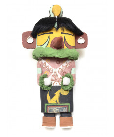 Spotted Corn kachina doll by Markus Barton (Hopi)