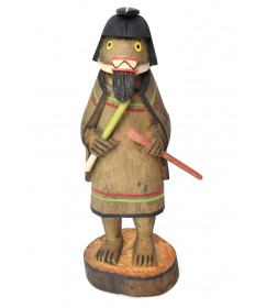 Ogre Woman kachina doll by Darrell Kewanwytewa (Hopi)