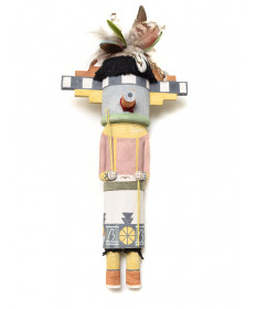 Wooden Ears kachina doll by Ryon Polequaptewa (Hopi)