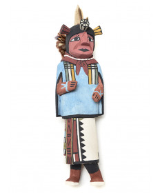 Cross Legged kachina doll by Eric Kayquaptewa (Hopi)