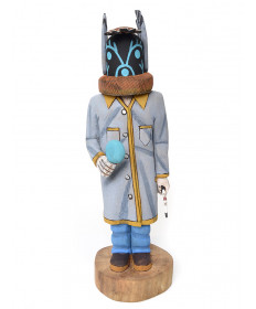 Qoqolo kachina doll by Philander Shelton (Hopi)