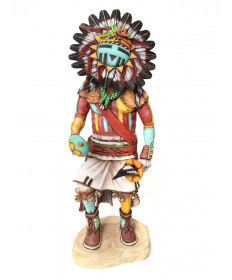 Sun kachina doll by Arthur Holmes Jr. (Hopi)