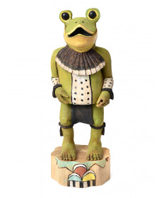 Frog kachina doll by Aaron Honanie (Hopi)