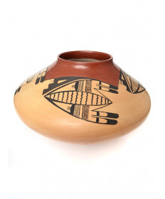 Pottery bowl by James Garcia (Hopi)