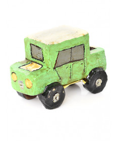Miniature pottery truck by Jonathan Chee (Navajo)