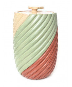 Pottery jar with lid by Marcella Yepa (Jemez)