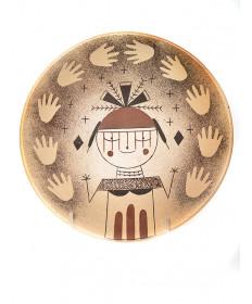 Pottery plate by Garrett Maho (Hopi)