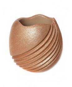 Micaceous pottery jar by Dominque Toya (Jemez)