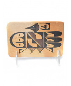 Bird pottery tile by White Swann (Hopi)