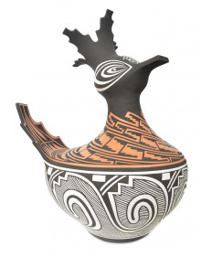 Pottery duck by Gaylon Westika (Zuni)