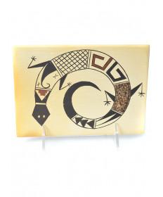 Pottery tile by Terran Naha (Hopi)