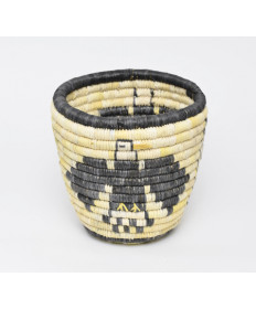 Coiled Eagle Basket by Margaret Kootswatewa (Hopi)