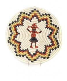 Mudhead coil basket by Jill Quiyo (Hopi)