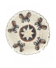 Miniature butterflies basket by Elizabeth Juan (Tohono O'odham)