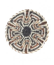 Miniature 6-point squash basket by Elizabeth Juan (Tohono O'odham)
