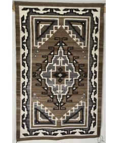 Two Grey Hills Rug by Lena Williams (Navajo)