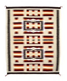 Traditional rug by Susie Tso (Navajo)