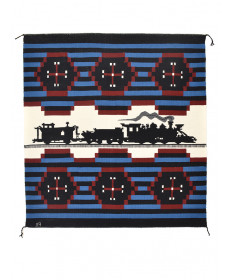 Revival train rug by Florence Riggs (Navajo)