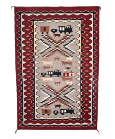 Pictorial rug by Louise Singer (Navajo)