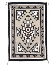 Two Grey Hills rug by Minnie Begay (Navajo)