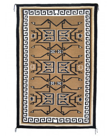 Two Grey Hills rug by Louise Singer (Navajo)