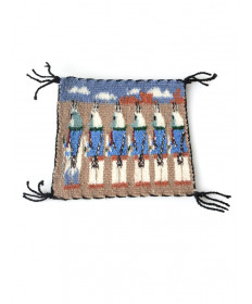 Miniature Yei rug by Lula Brown (Navajo)