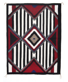 3rd Phase Chief's blanket by Louise Tabaha (Navajo)