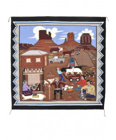 Pictorial rug by Florence Riggs (Navajo)