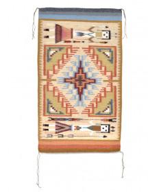 Yei Burntwater rug with vegetal dyes by Darlene John (Navajo)