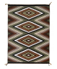 Eye Dazzler rug by Louise Singer (Navajo)