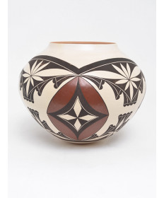 Polychrome Pottery Bowl by Yonne Lucas (Laguna)