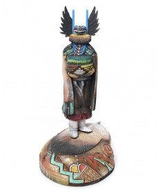 Crow Mother kachina doll by Sterling McRae (Hopi)