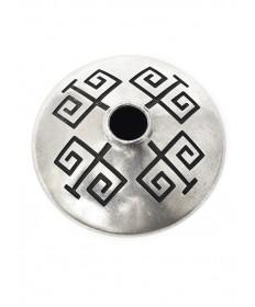 Sterling silver seed pot by Norbert Peshlakai (Navajo)