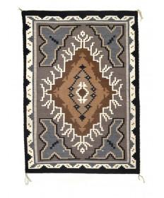 Two Grey Hills rug by Anita Benally (Navajo)