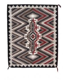 Two-in-One rug by Verna Begay (Navajo)