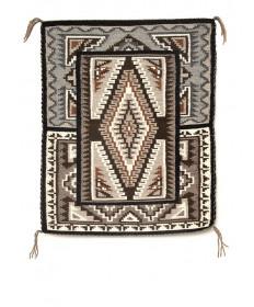 Two Grey Hills rug by Linda Howe (Navajo)