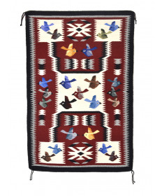 Storm Pictorial rug by Mae Bow (Navajo)