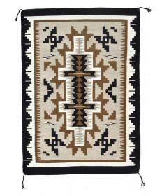 Two Grey Hills rug by Stella Wilson (Navajo)