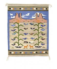 Pictorial rug by Shayne Ahidley (Navajo)